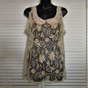Moulinette Soeurs Tops - Moulinette Soeurs Anthropologie lace blouse medium